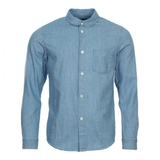 APC Stitch Chambray Shirt COCIC H12332 Blue