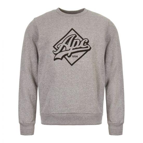 apc sweatshirt sherman COCZF H27485 LAA grey