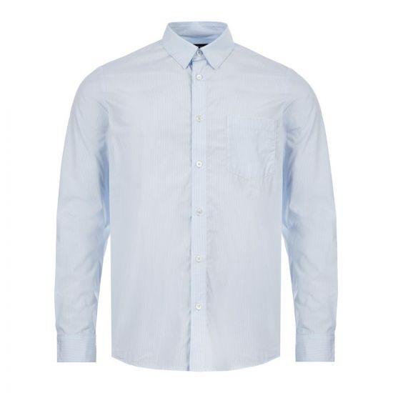 APC Shirt   COECI H12386 IAB Blue / White