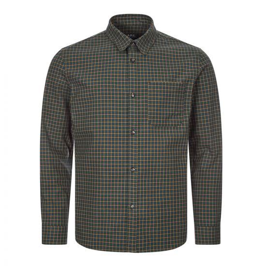 apc shirt COECC H02396 green check
