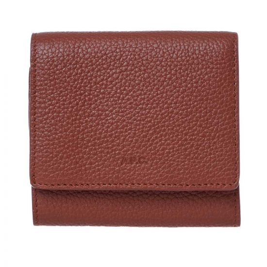 APC Compact Wallet  PXBLH|H63325|CAD In Brown At Aphrodite Clothing