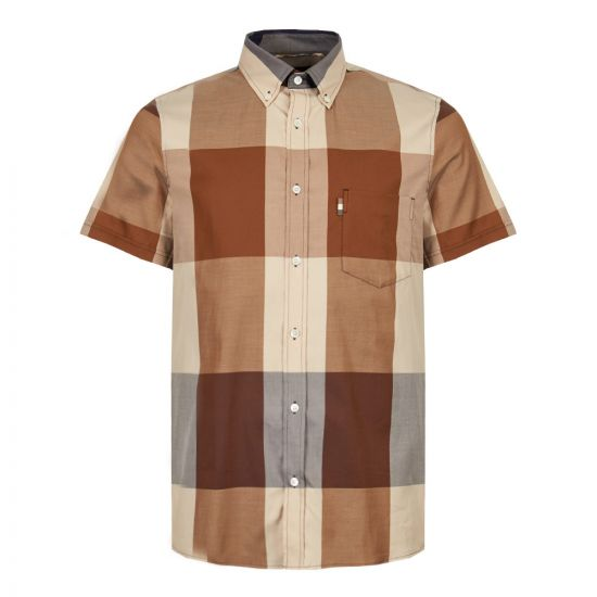 aquascutum henlake shirt HSAJ18SBKIC VIC brown