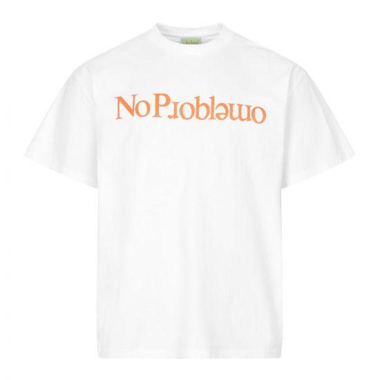 aries t-shirt no problemo FRAR60002 WHITE white