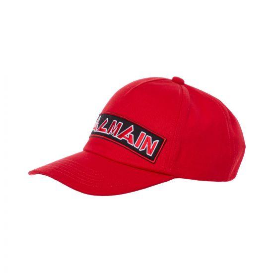 Balmain Cap Logo SH1A044Z520 3AA Red
