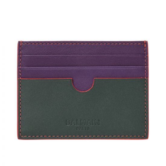 Balmain Card Holder  SM1M022LGGE Dark Green / Purple