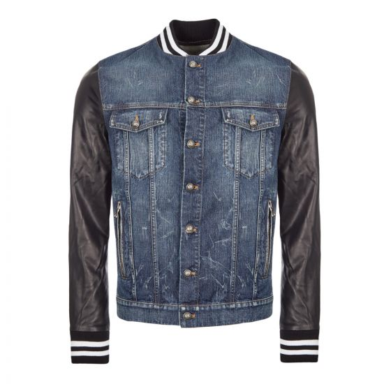 Balmain Jacket Denim | SH08462Z563 6AA Blue