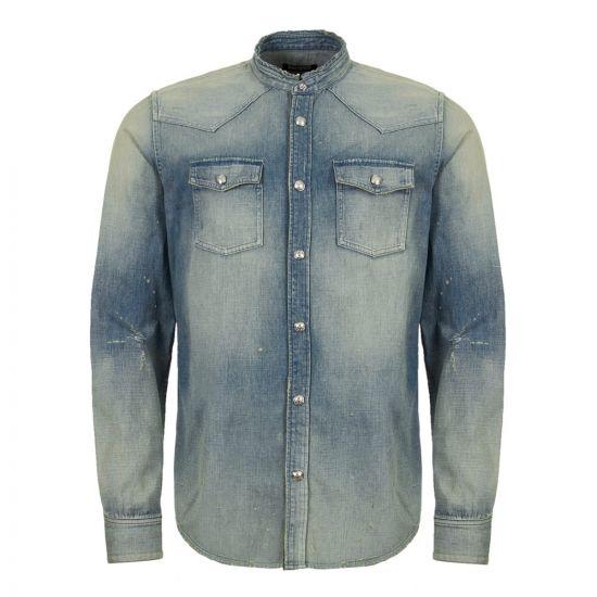Balmain Denim Shirt RH02400Z130 6AA Washed