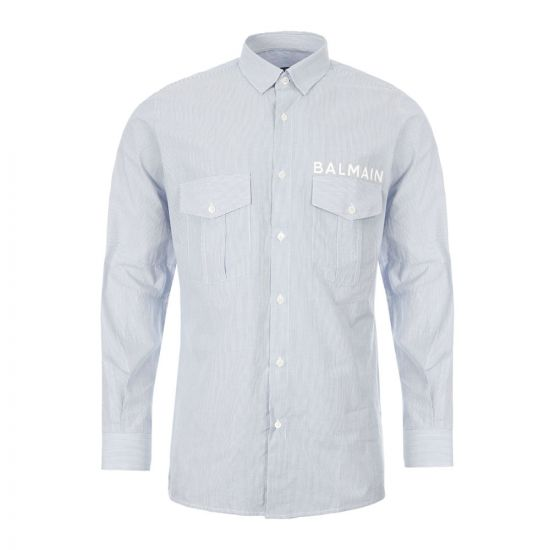 Balmain Shirt - Blue / White 21183CP -1