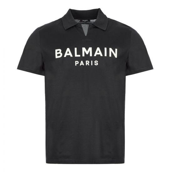 Balmain Polo Shirt - Navy 21574CP -1