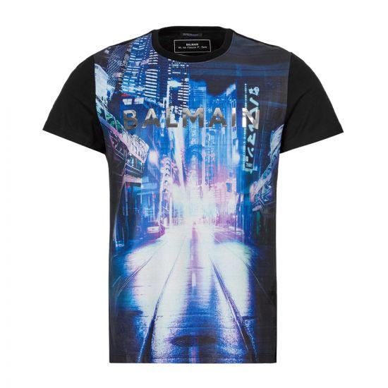 Balmain T-Shirt | SH11601I159 AAA Black Ciy Over The Top | Aphrodite