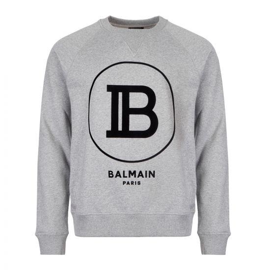 Balmain Sweatshirt | SH03279I199 9UB Logo Grey