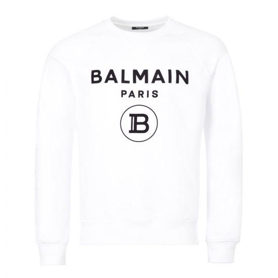 balmain sweatshirt flock UH13279I372 GAB white