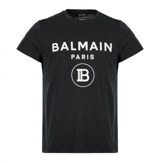 Balmain T-Shirt Logo SH0601 192 0PA Black Aphrodite