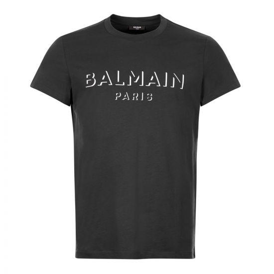 balmain t-shirt 3d UH11601I364 0PA black