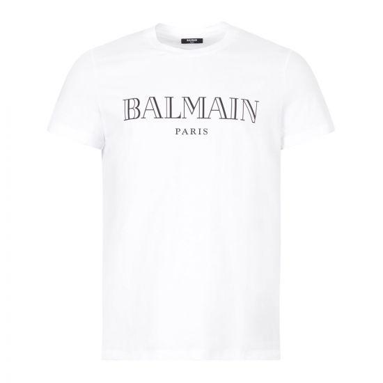 balmain t-shirt paris UH1160I1312 GAB white