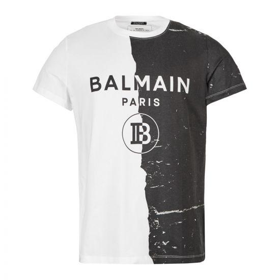 Balmain T-Shirt SH01601I237 EAB Black / White