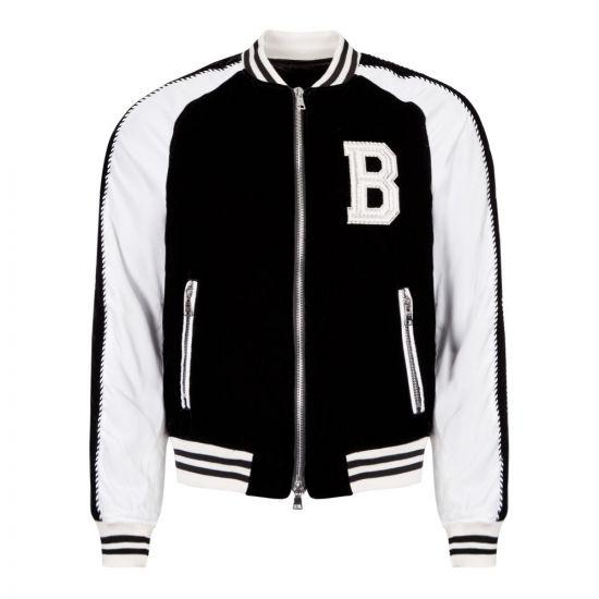 Balmain Jacket Teddy SH18223Z221 EAB Black / White