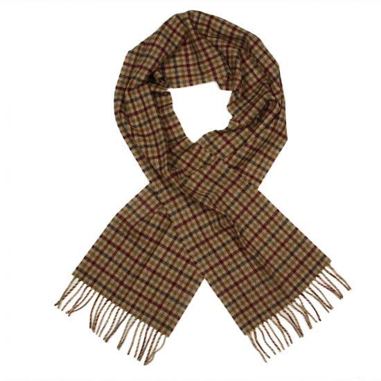 barbour scarf oliver merlot shepherd houghton check usc0168 ol