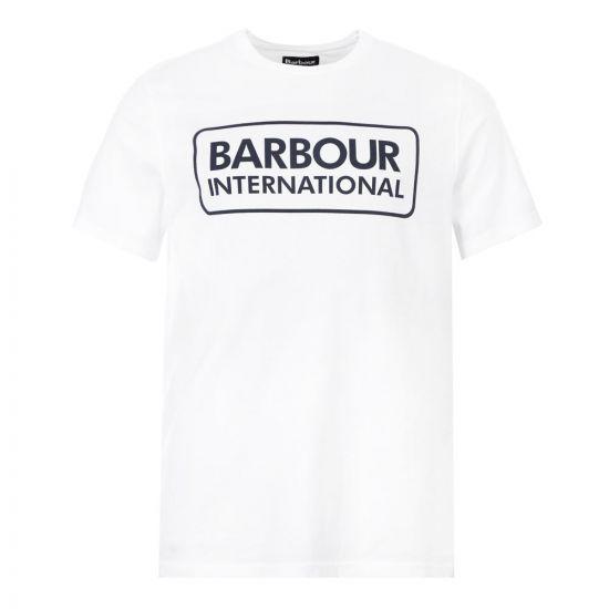 Barbour International T-Shirt Logo MTS0369 WH11 White Aphrodite1994