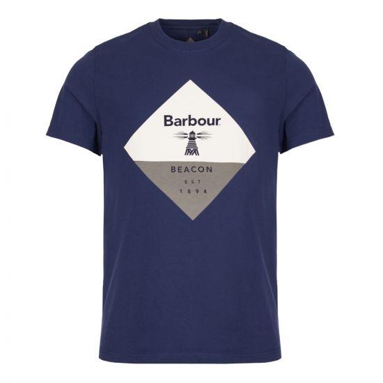barbour beacon t-shirt diamond MTS0474 BL46 navy
