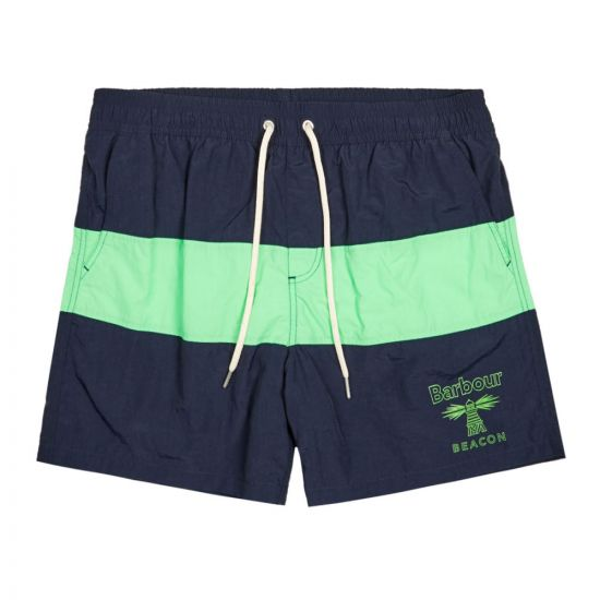 Barbour Swim Shorts | MSW0025 NY91 Navy / Green