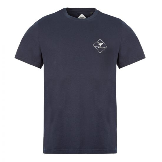 Barbour T-Shirt Beacon  - Navy  21511CP -1