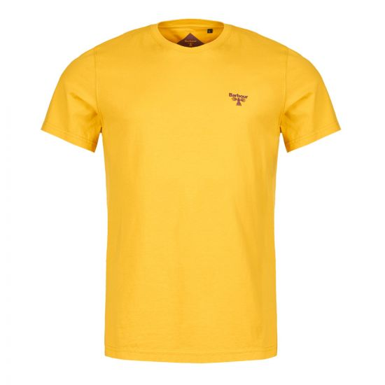 barbour beacon t-shirt MTS0430 YE55 sulphur yellow