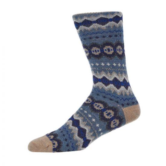 Barbour Socks   MSO0127 BL11 Fairisle Denim