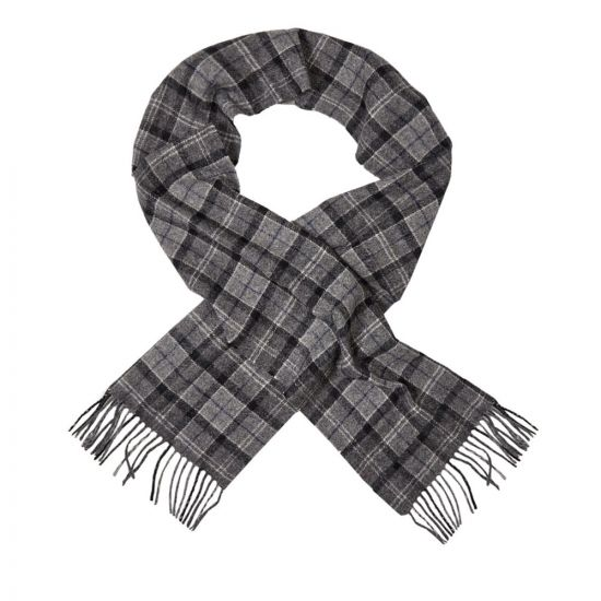 Barbour Scarf | USC0001 BK11 Black / Grey Tartan