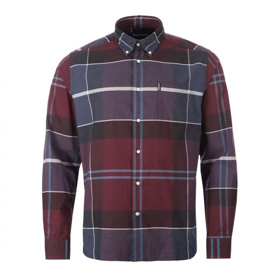barbour cannich shirt MSH606 RE94 merlot