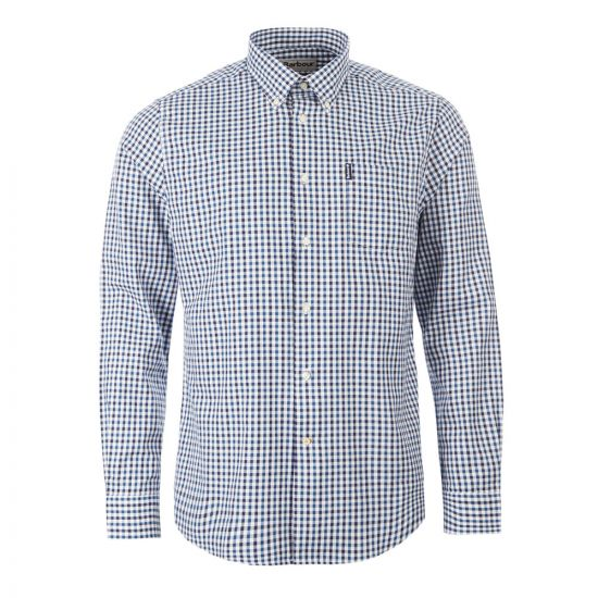 barbour gingham shirt MSH410 IN32 indigo