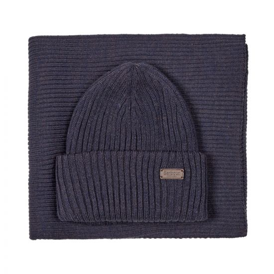 Barbour Beanie & Scarf Set | MGS0019 NY31 Navy