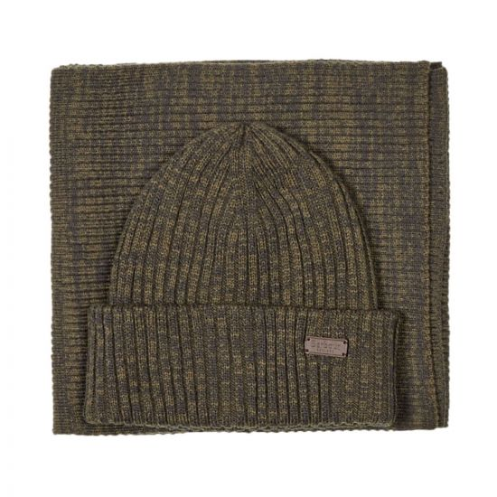 Barbour Beanie & Scarf Set | MGS0019 OL71 Olive