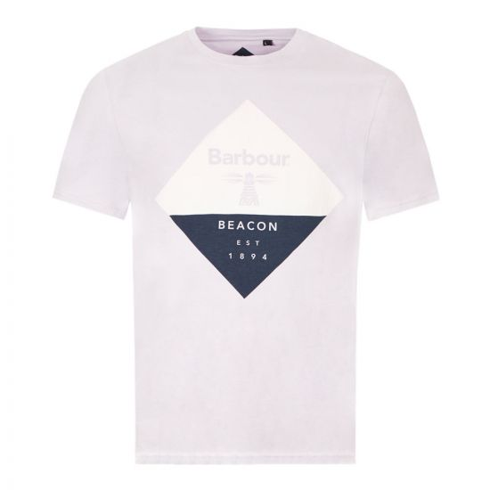 Barbour T-Shirt Diamond Logo - Purple 21508CP -1