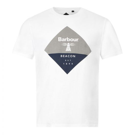 Barbour T-Shirt Diamond Logo - White 21509CP 0