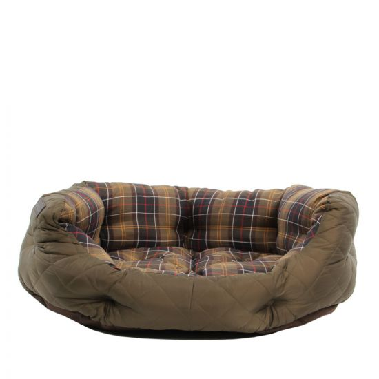 "Barbour Quilted Dog Bed 30"" UAC0119 OL72 In Olive"