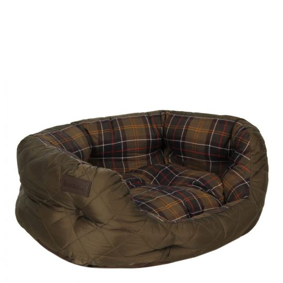 """Barbour Dog Bed 24"""" Quilted in Olive UAC0103 OL72"""