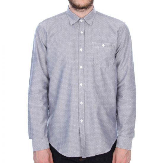 barbour shirt b.intl fuel in indigo