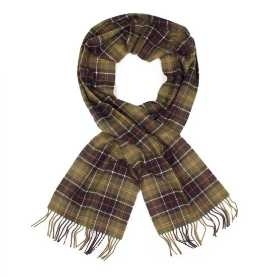 barbour scarf USC0001TN11 green classic tartan lambswool