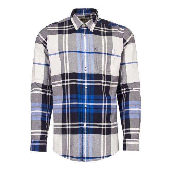 barbour shirt highland 2 MSH4418 BL24 electric blue