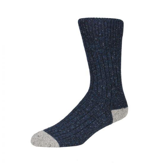 Barbour Socks Navy Houghton MSO0091 NY51