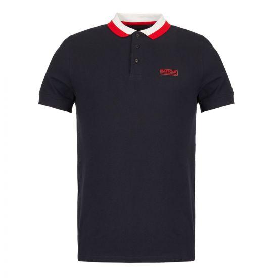 barbour international polo shirt MML1005 NY91 navy