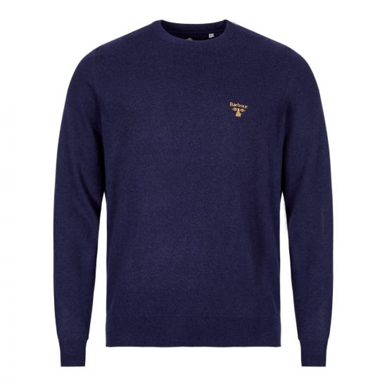 Barbour Knitted Sweatshirt Beacon Logo MKN1199 BL86 Navy
