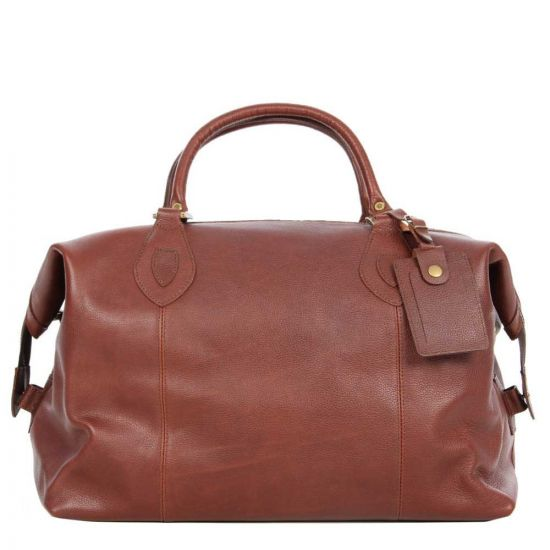 Barbour Bag Brown Leather Travel Explorer UBA0008BR