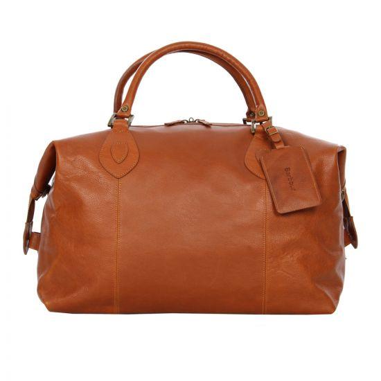 Barbour Bag Tan Leather Travel Explorer UBA0008