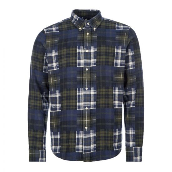 Barbour Beacon Check Shirt - Forest  21042CP -1