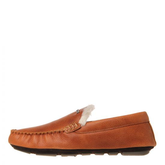 Barbour Monty Slippers MSL0001 TA5 in Tan Leather