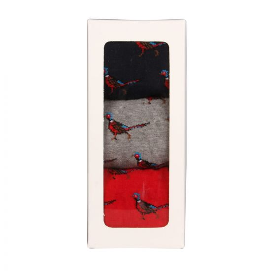 Socks - Red/Grey/Navy