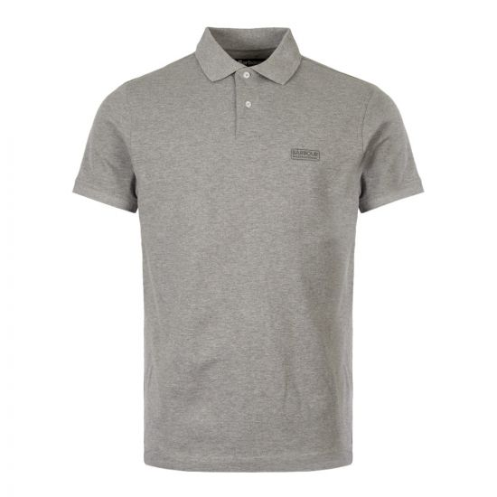 Barbour International Polo Shirt Logo MML0914 GY52 Grey