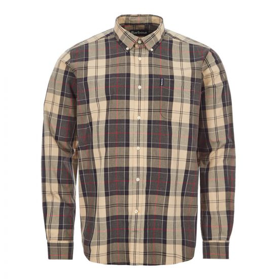 Barbour Shirt Sandwood - Stone  21517CP -1